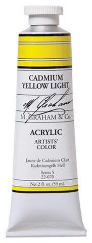 5OZ ACRYLIC CADMIUM YELLOW LIGHT