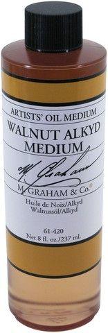 GRAHAM OIL 8OZ WALNUT ALKYD MEDIUM