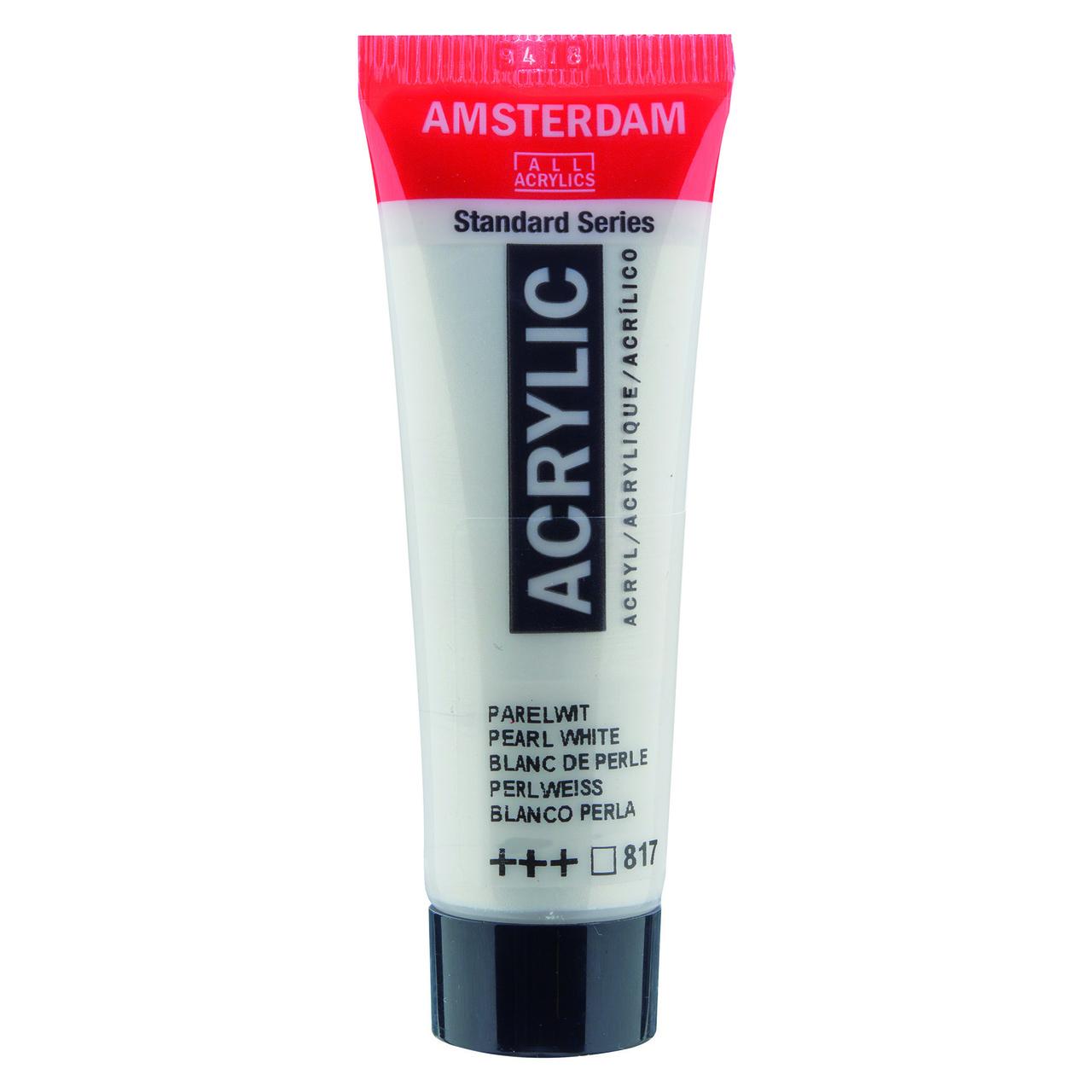 AMSTERDAM ACRYLIC 20ML PEARL WHITE