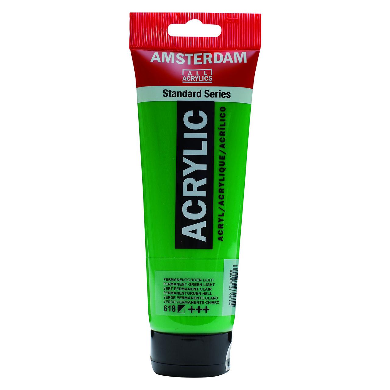 AMSTERDAM ACRYLIC 250ML PERM GREEN LIGHT
