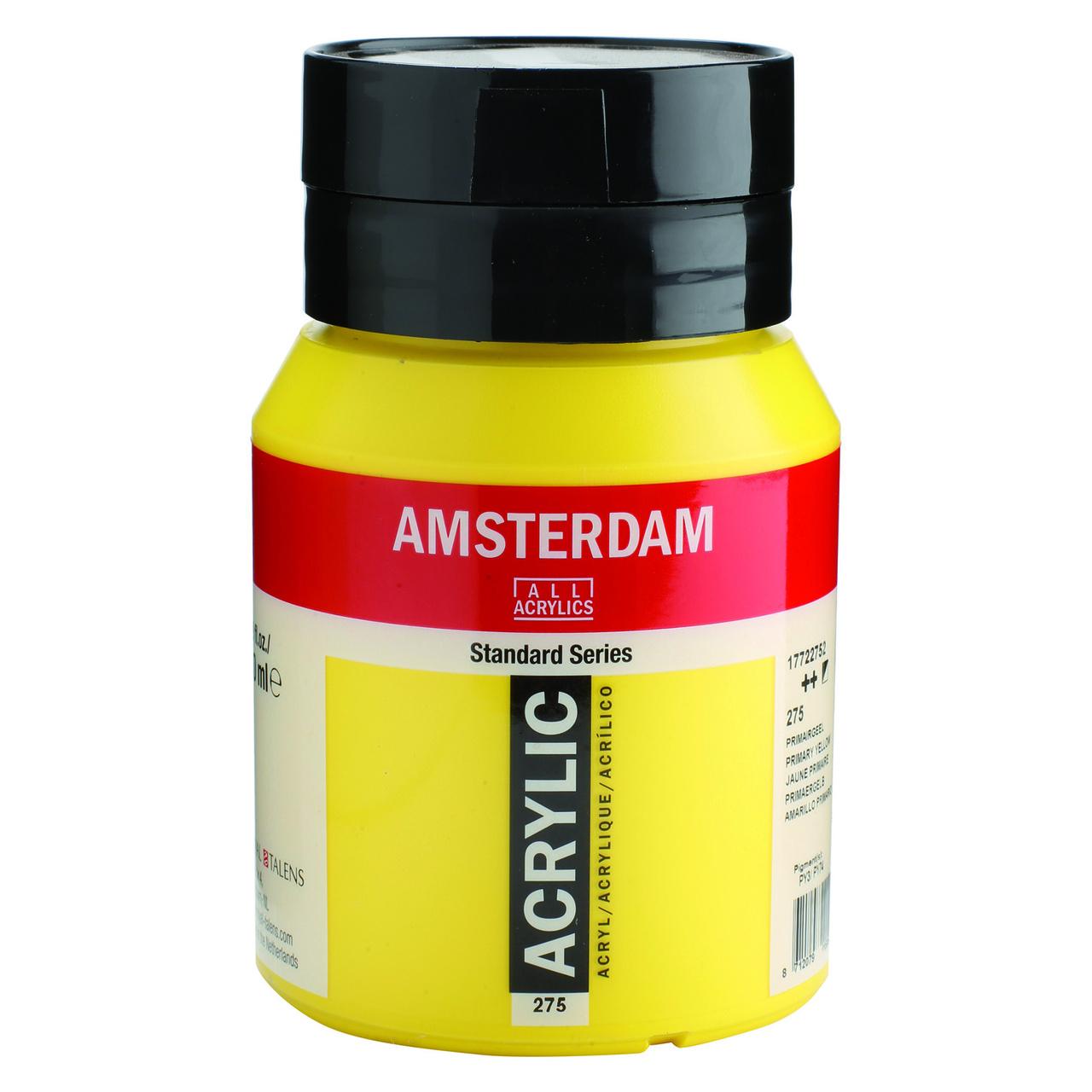 AMSTERDAM ACRYLIC 500ML PRIMARY YELLOW
