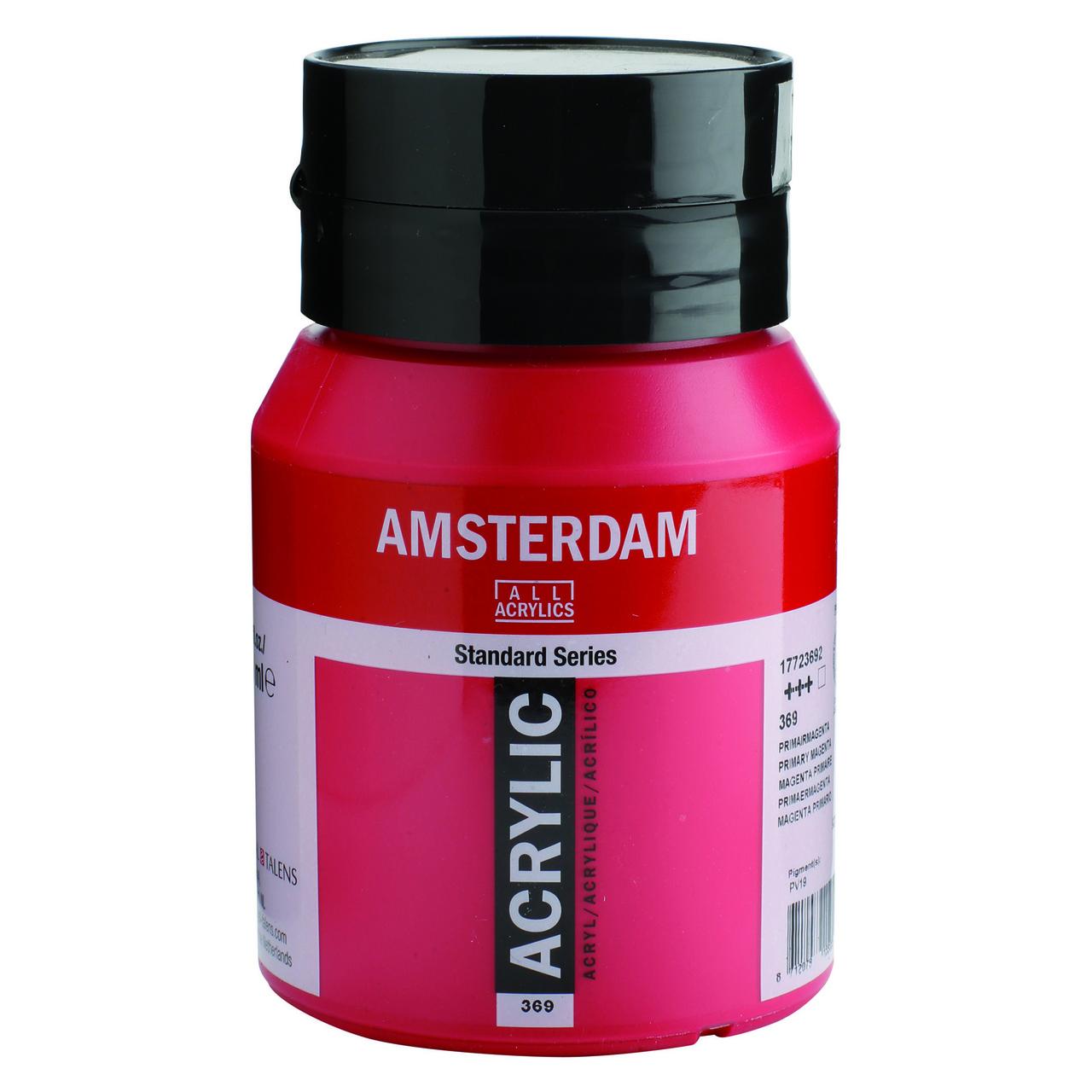 AMSTERDAM ACRYLIC 500ML PRIMARY MAGENTA