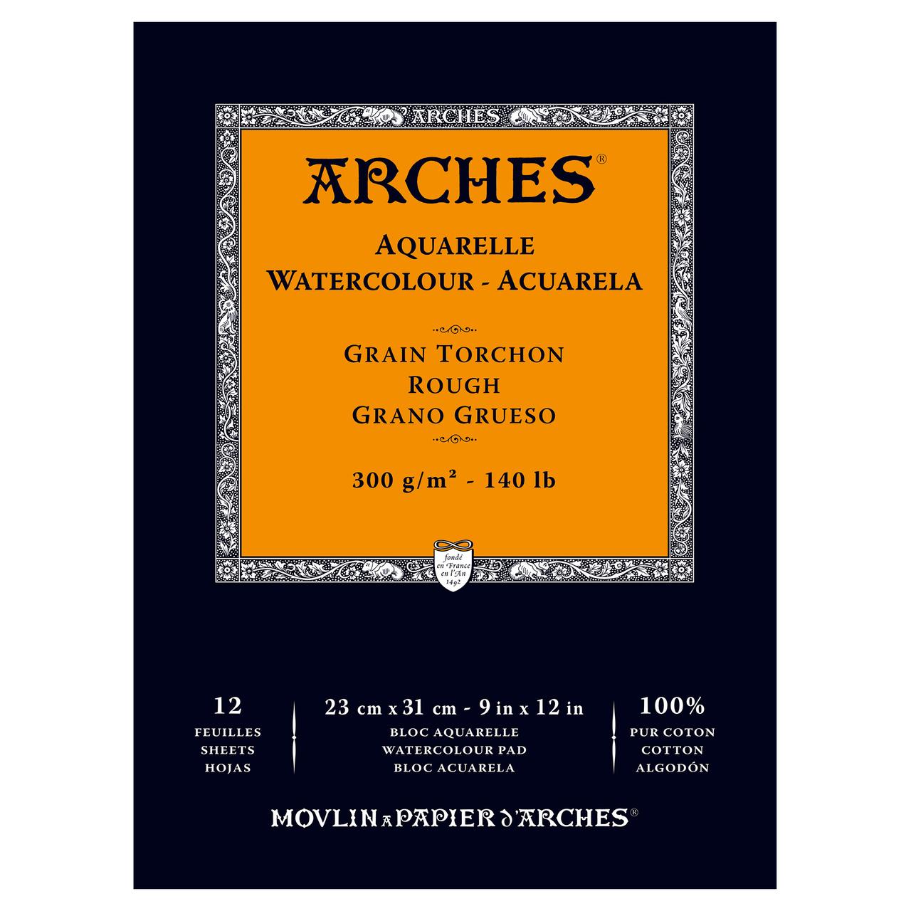 ARCHES PAD 140# ROUGH 9X12