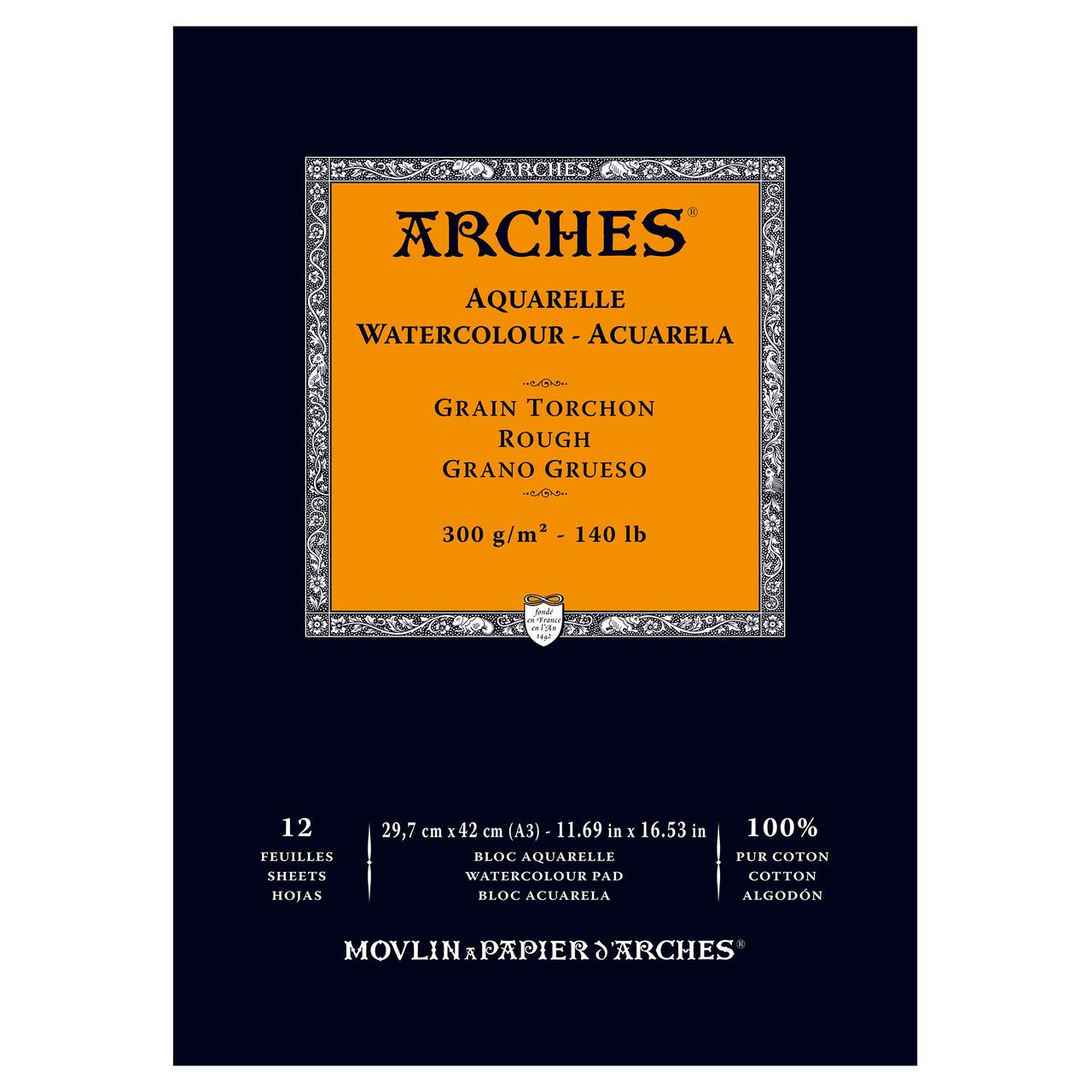 ARCHES PAD 140# ROUGH 11.7X16.5