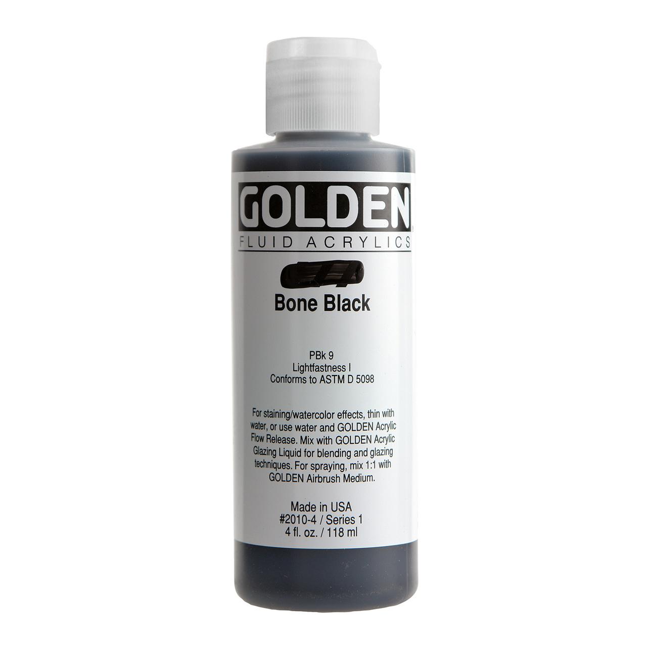 FLUID ACRYLIC 4OZ BONE BLACK