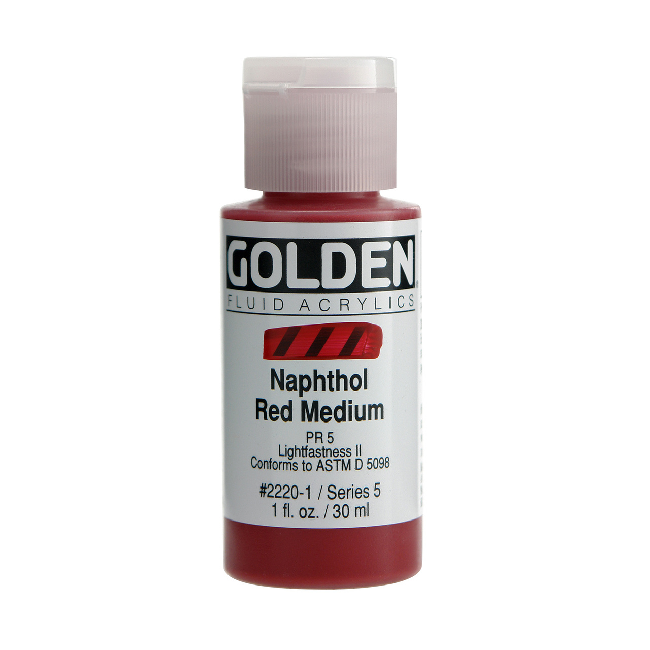 FLUID ACRYLIC 1OZ NAPHTH RED MED