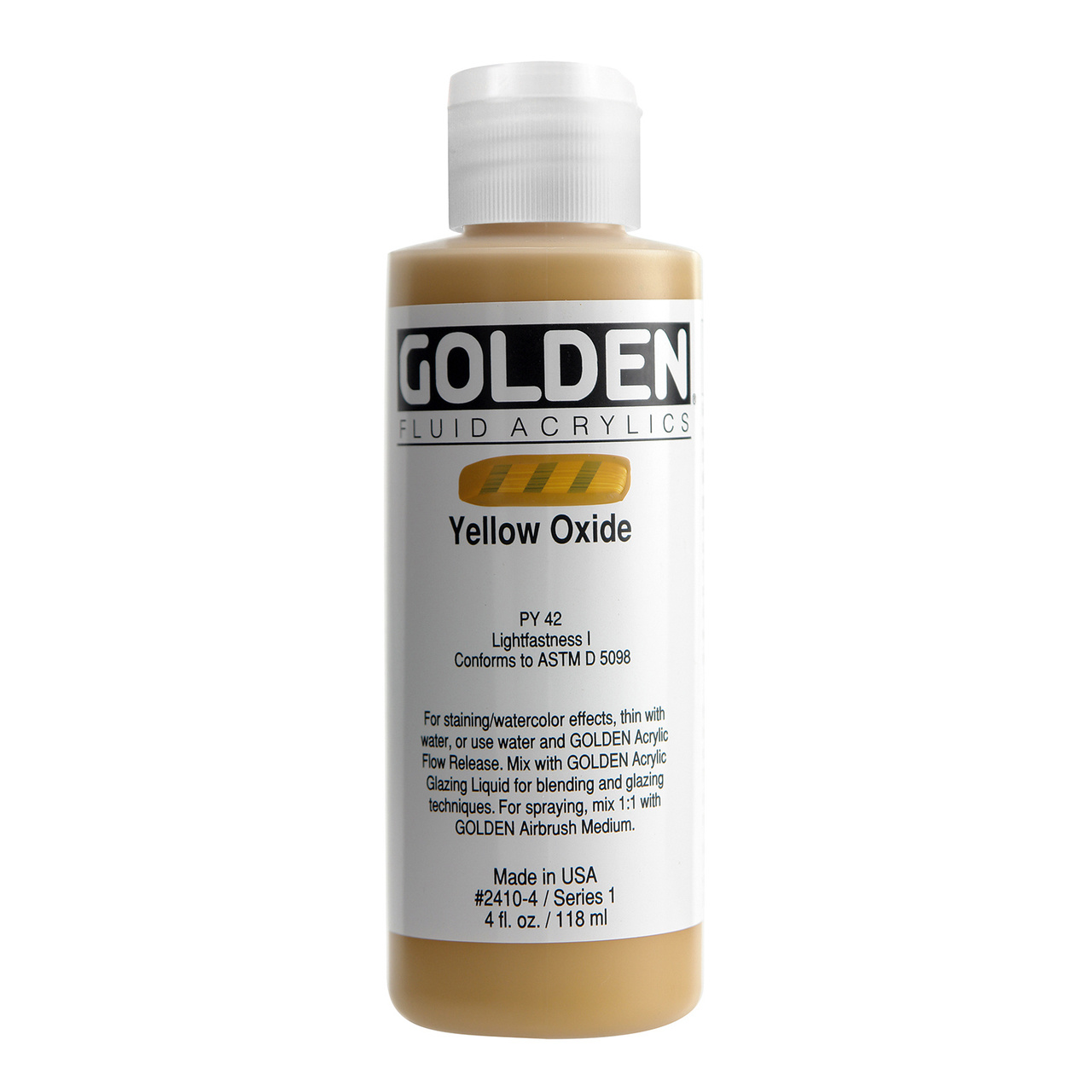 FLUID ACRYLIC 4OZ YELLOW.OXIDE