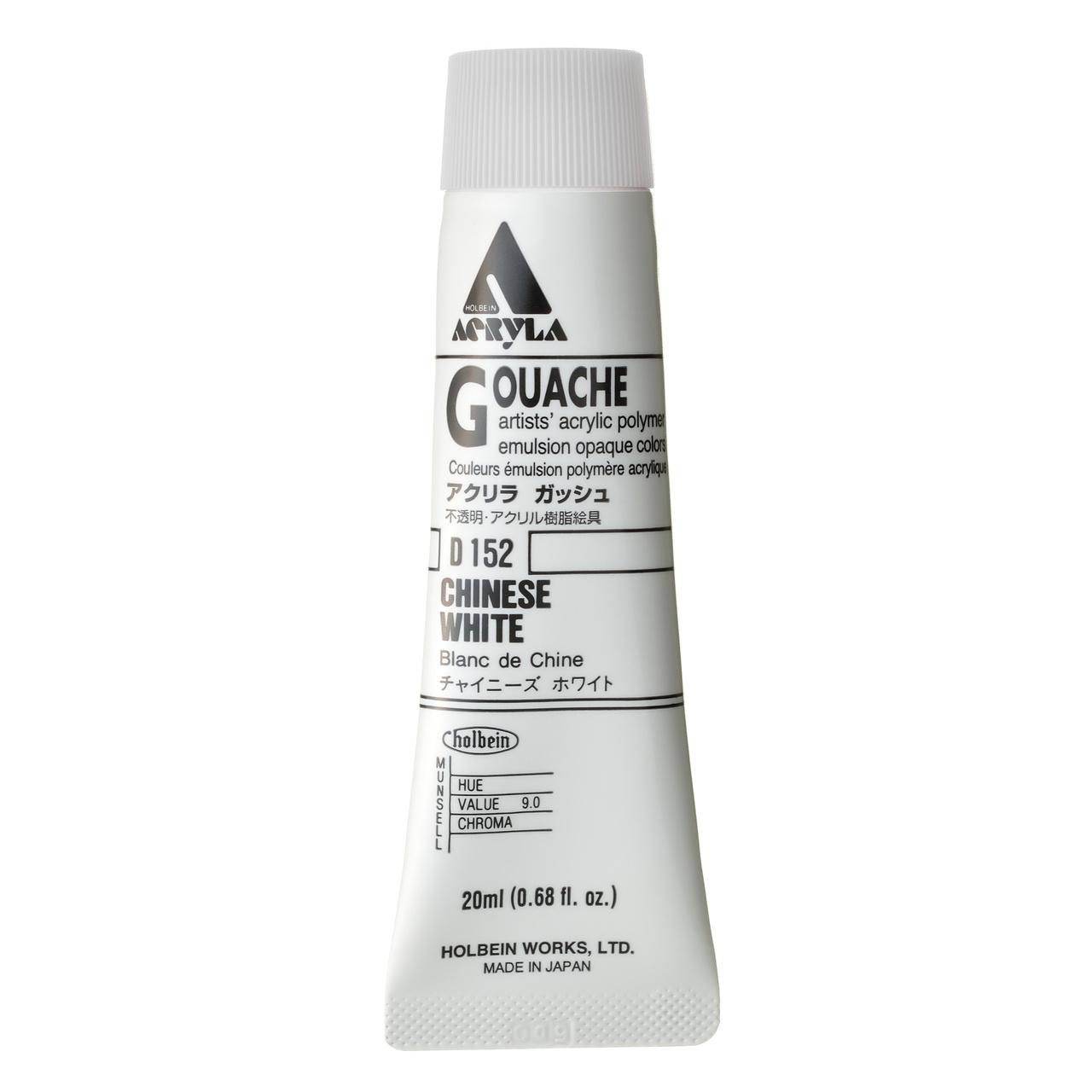 ACRYLA GOUACHE 20ML CHINESE WHITE