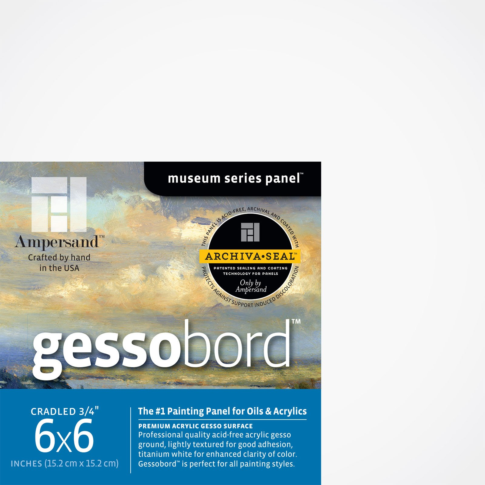 GESSOBORD 1/8IN FLAT 4PK 6X6