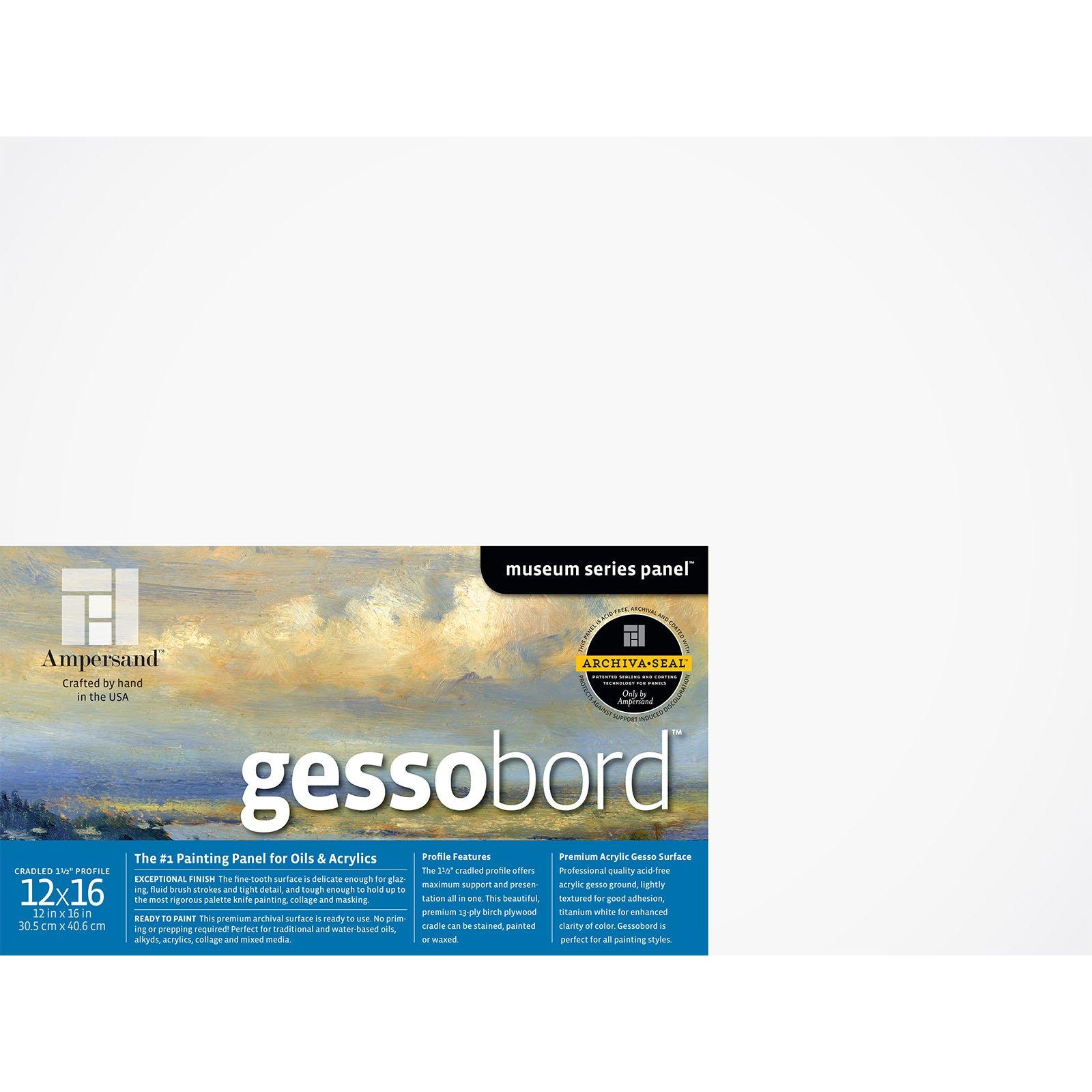 GESSOBORD 1.5IN CRADLED 12X16