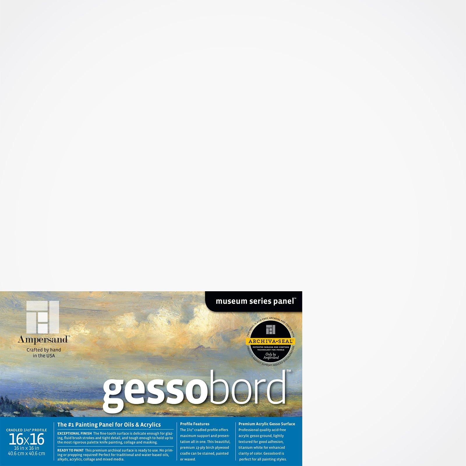 GESSOBORD 1.5IN CRADLED 16X16