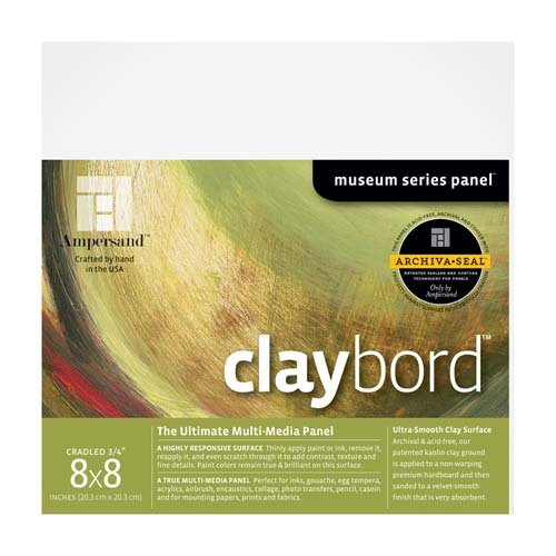 CLAYBORD 3/4IN CRADLED 8X8