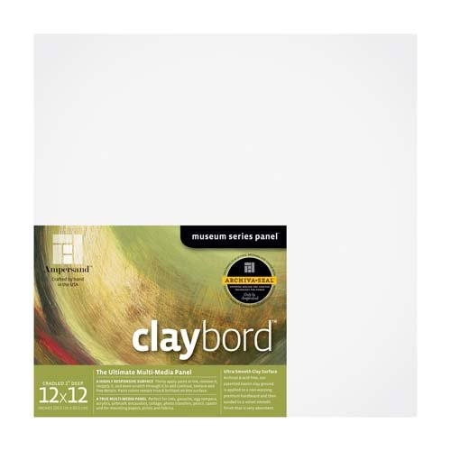 CLAYBORD 2IN CRADLED 12X12