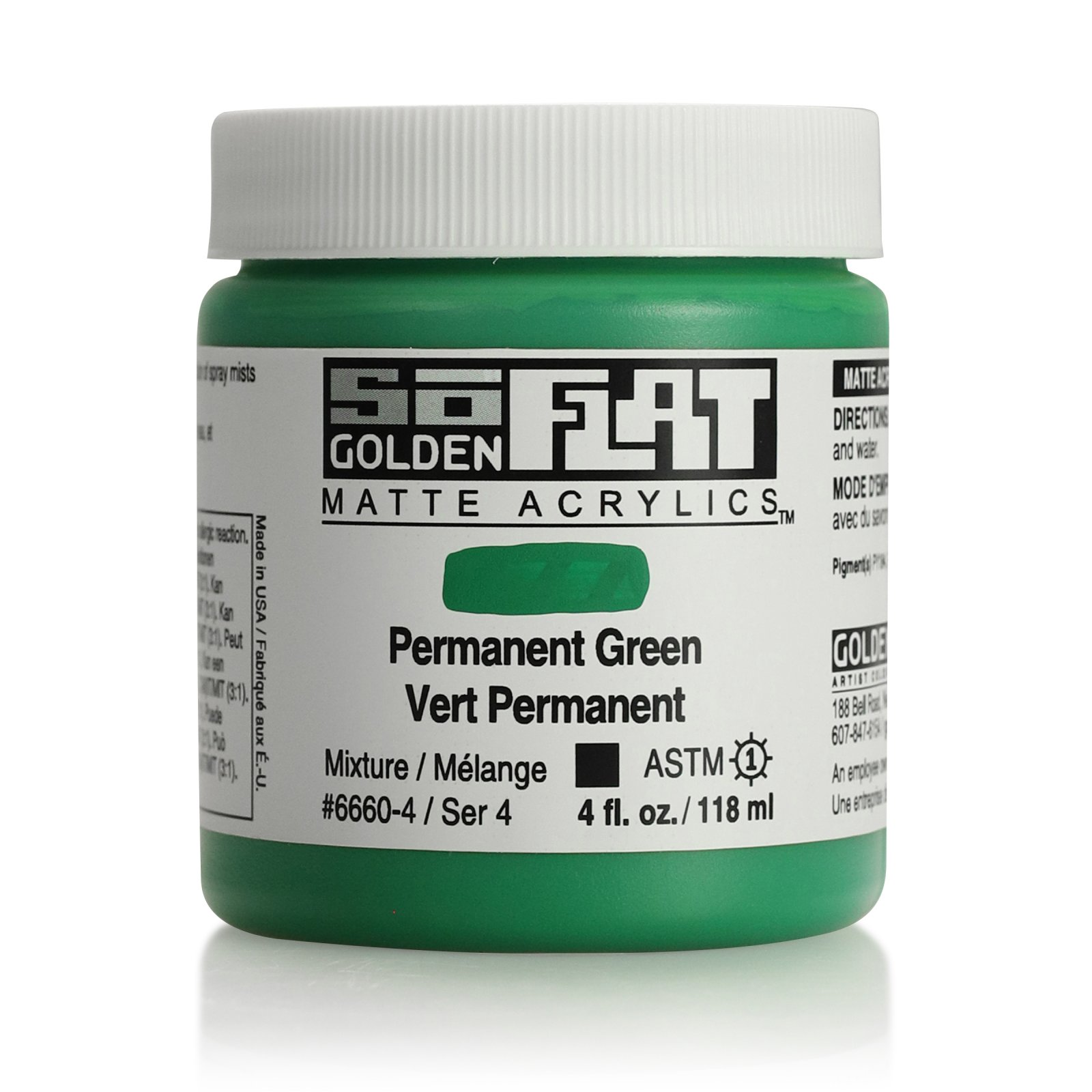 SOFLAT 4OZ PERMANENT GREEN