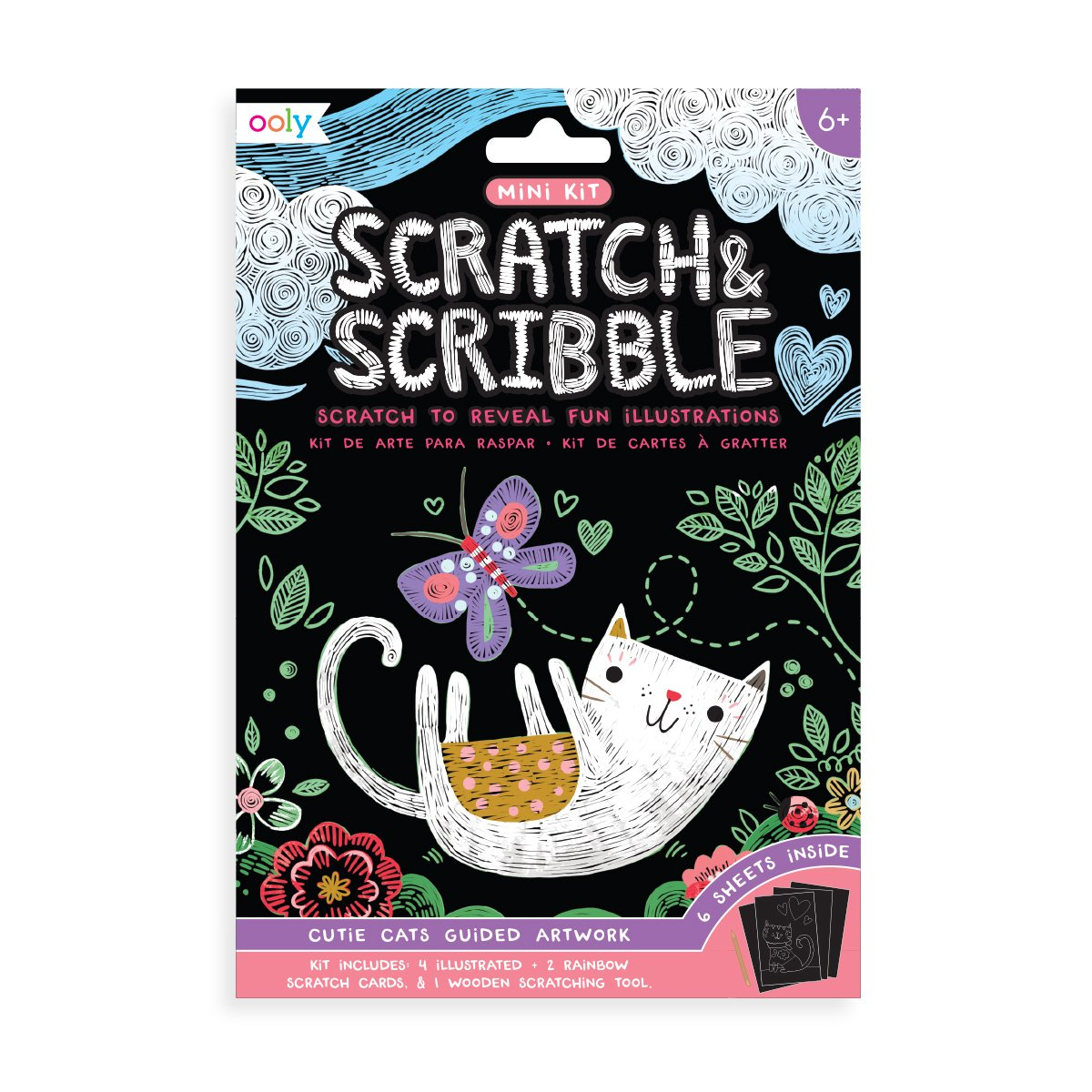 MINI SCRATCH & SCRIBBLE CUTIE CATS