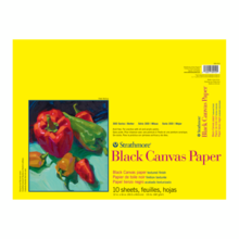 CANVAS 300 BLACK 12X16 PAD 10 SHEETS