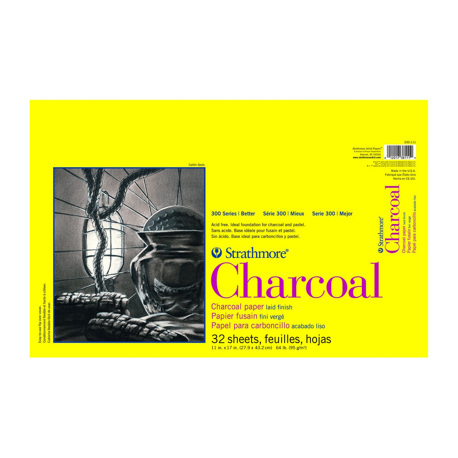 CHARCOAL 300 TAPE BOUND 11X17 32 SHEETS