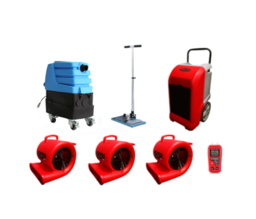 Dry It Yourself Package - 1 Moisture Meter, 3 Air Movers, 1 Dehumidifier, 1 Air Hog Extractor, and 1 Sub Surface Extractor