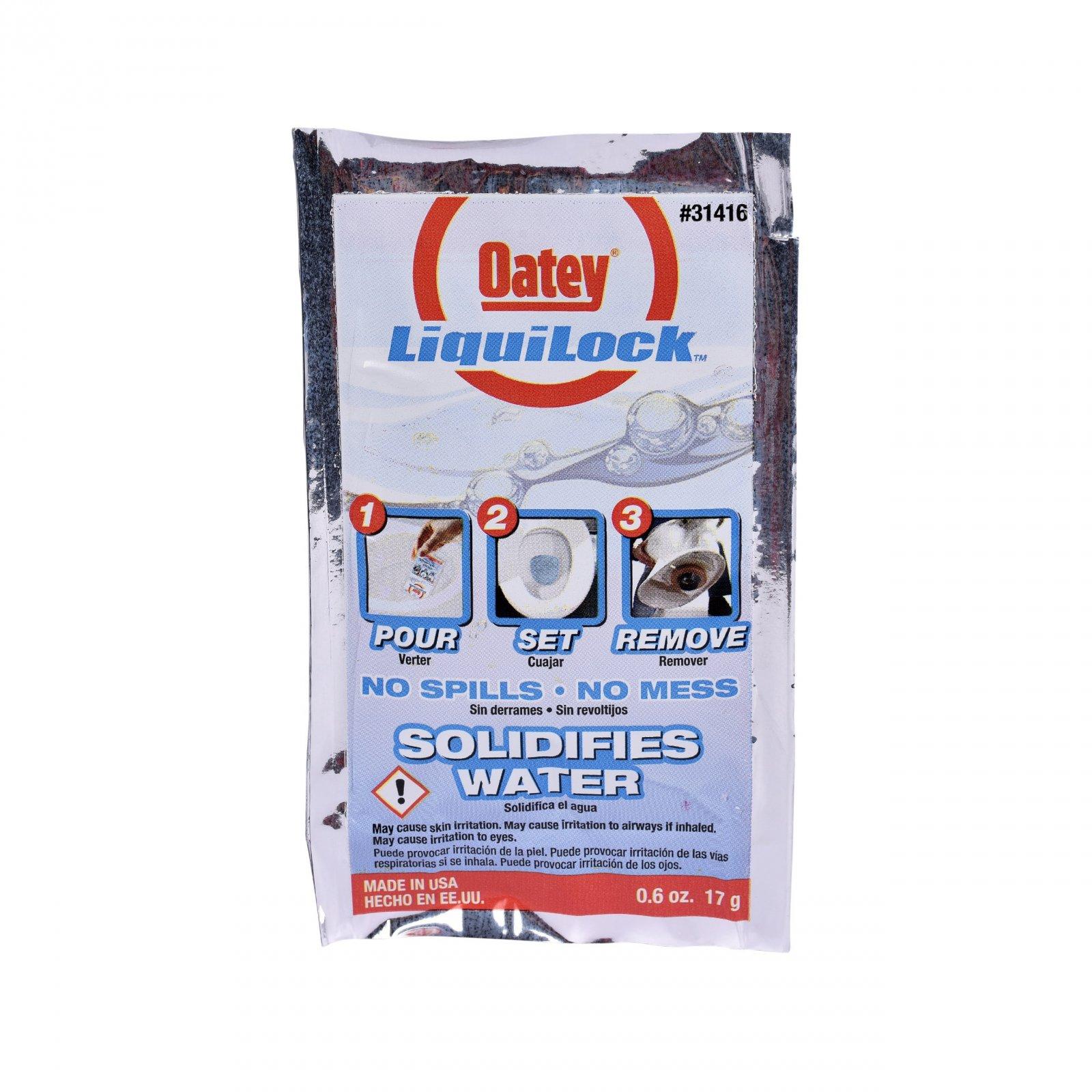 Oatey Liquilock Toilet Water Solidifier Gel pack