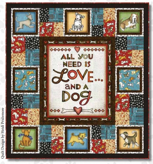 All You Need Is Love & a Dog (Quilt 2)