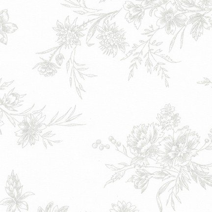 Wildflower Gray on White Shadow (18587)
