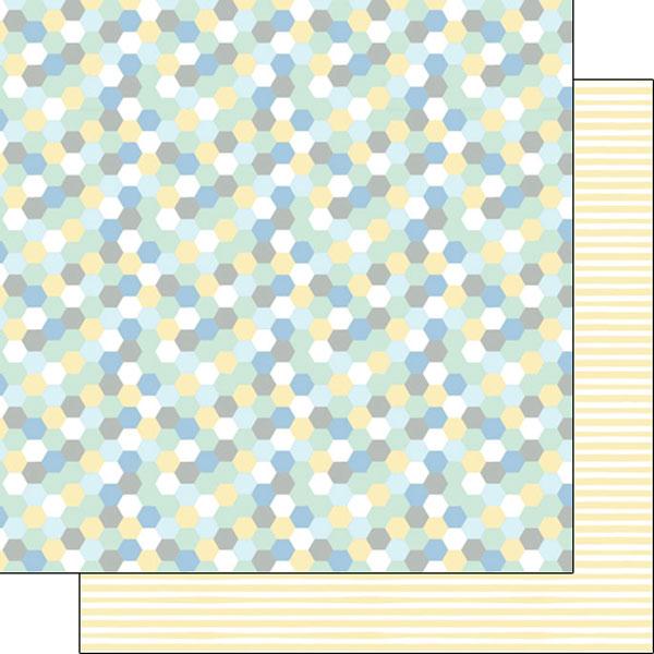 baby boy hexagon & yellow stripes