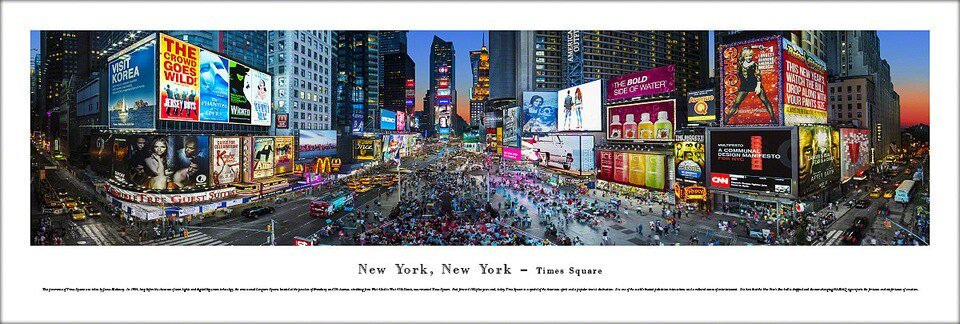 Blakeway Panorama NYC Times Square - CURBSIDE PICKUP ONLY