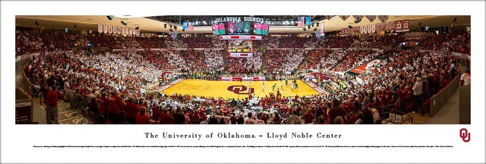 Blakeway Panorama The University of Oklahoma  Lloyd Noble Center - CURBSIDE PICKUP ONLY