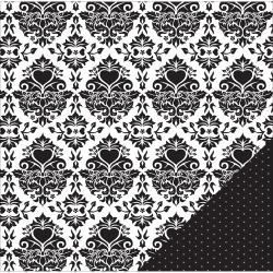 American Crafts American Crafts Wedding Double-Sided Cardstock 12X12 Black & White Damask