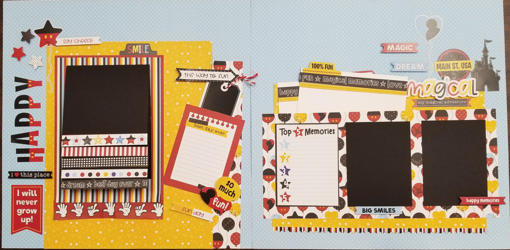 Another Day at the Park 2-page layout