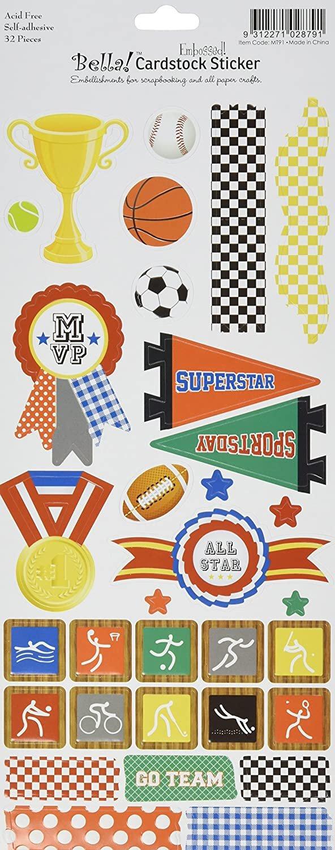 Bella! Cardstock Stickers 32 pieces