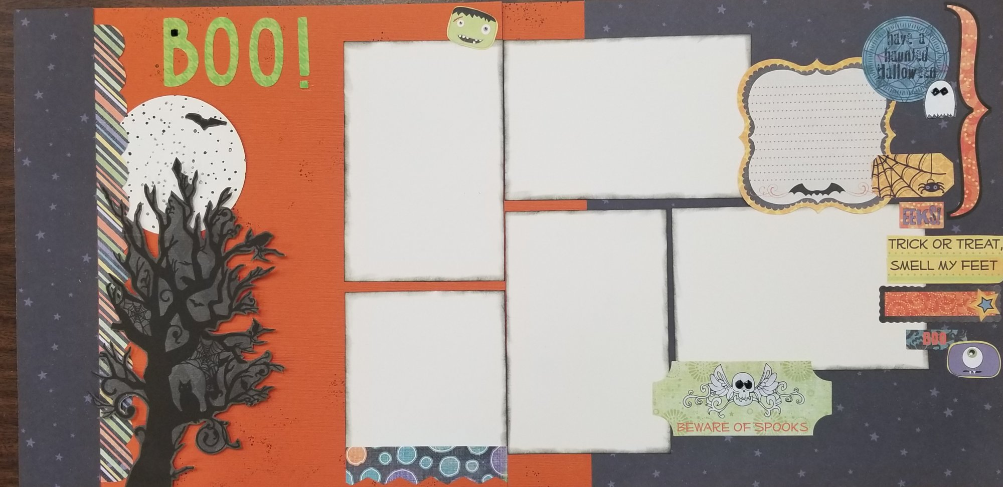 Boo! 2-page layout