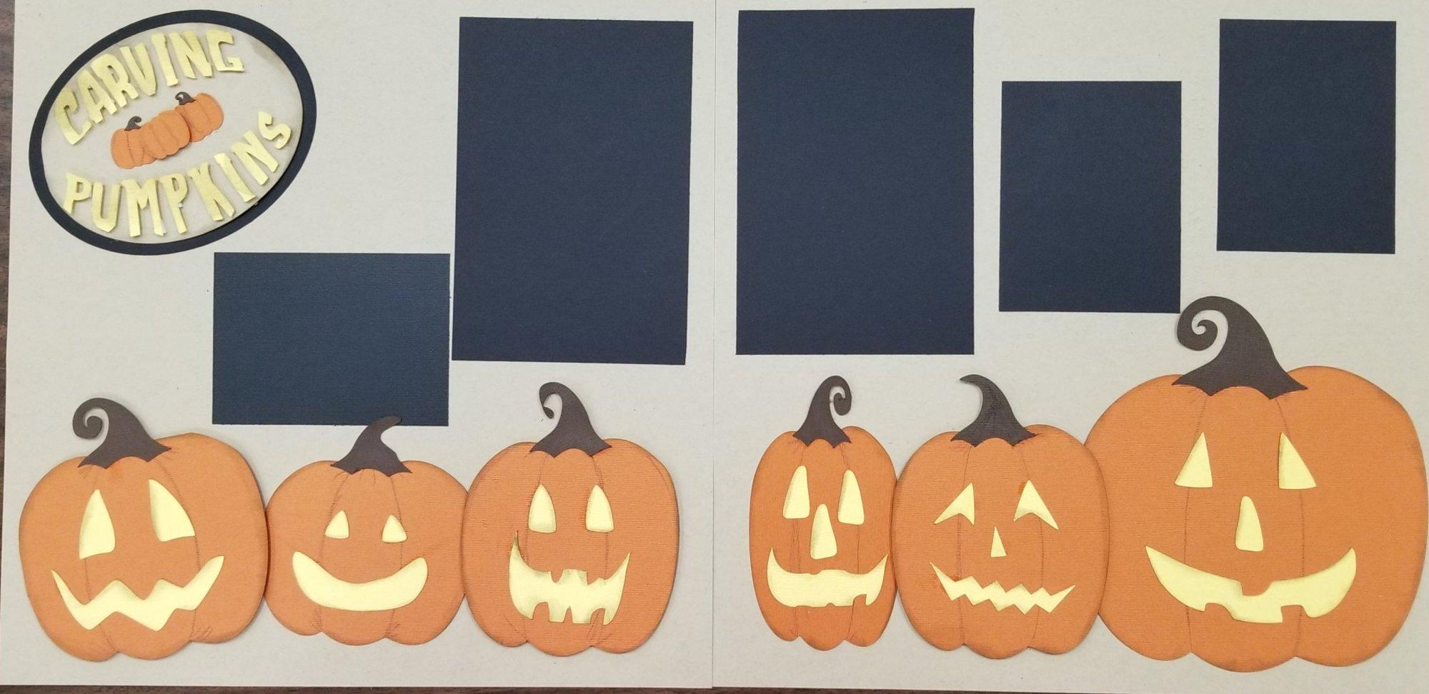 Carving Pumpkins 2-page layout (Sample)