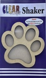 Clear Scraps Wood Paw Shaker