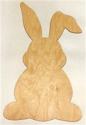 Clear Scraps XL Wood Bunny