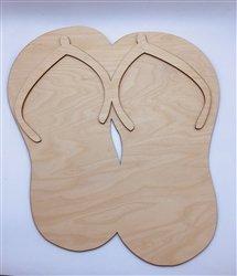 Clear Scraps XL Wood Flip Flops