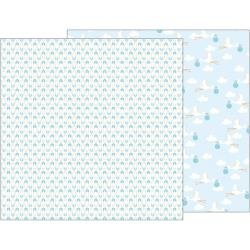 Pebbles Lullaby Double-Sided Cardstock 12X12 Delivering Baby Boy