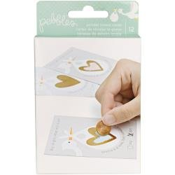 Pebbles Lullaby Gender Reveal Scratch-off Cards