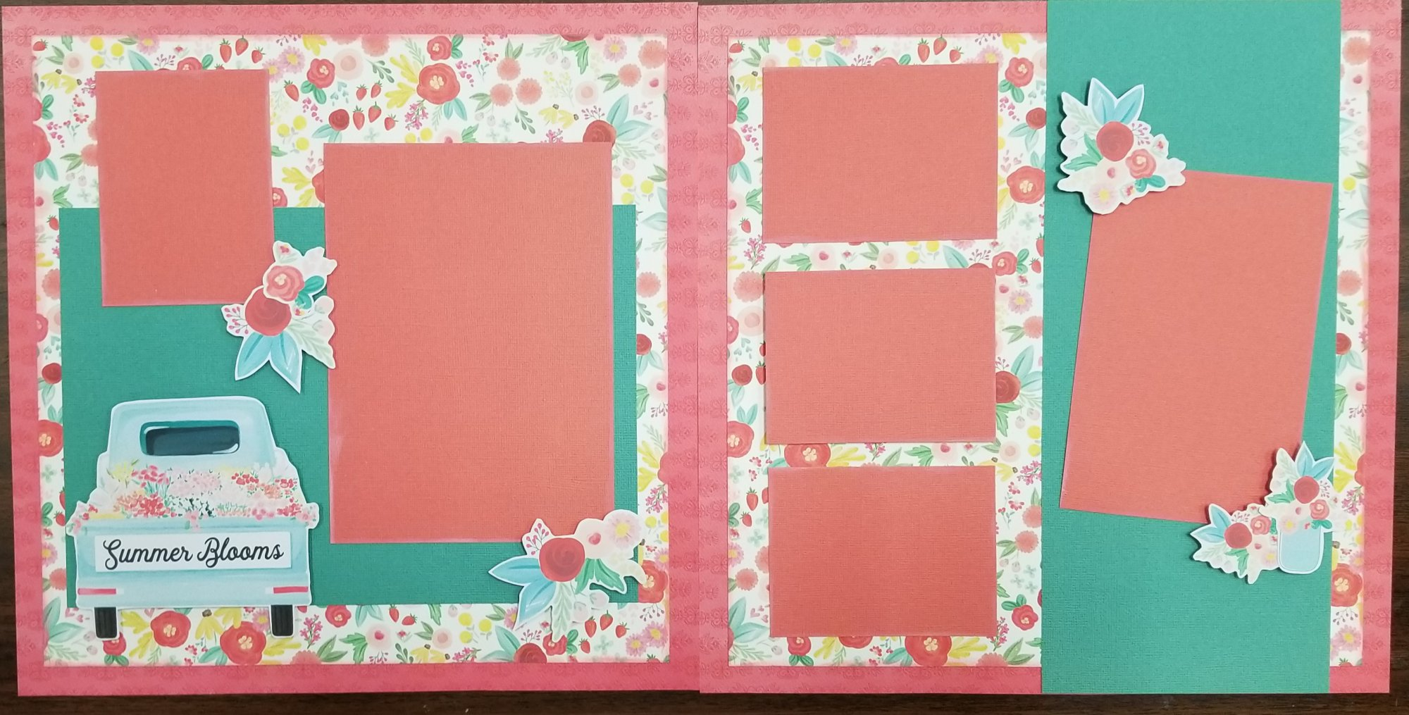 Summer Blooms 2-page layout Sample