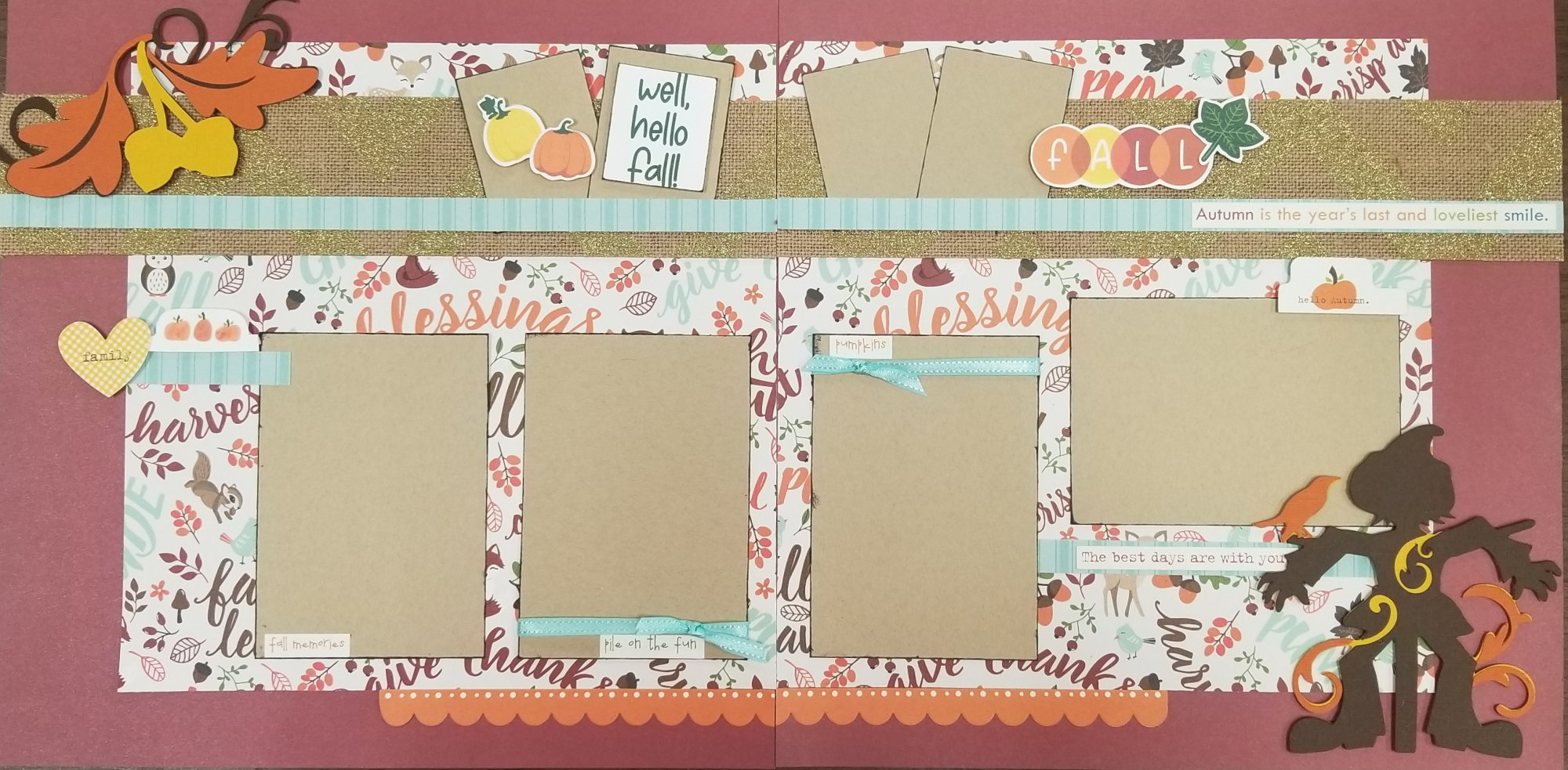Well, Hello Fall 2-page layout