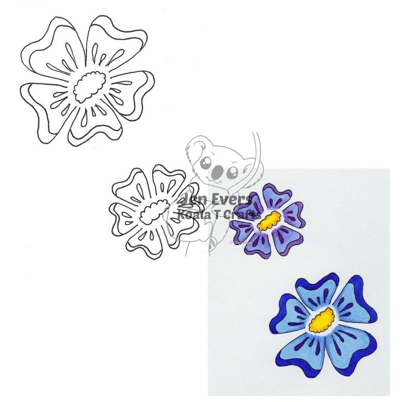 Flower #1  DIGI  INSTANT DOWNLOAD