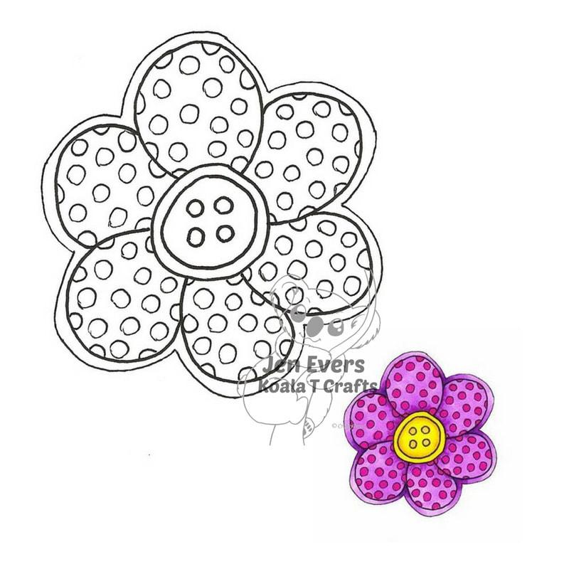 Flower #2  DIGI  INSTANT DOWNLOAD