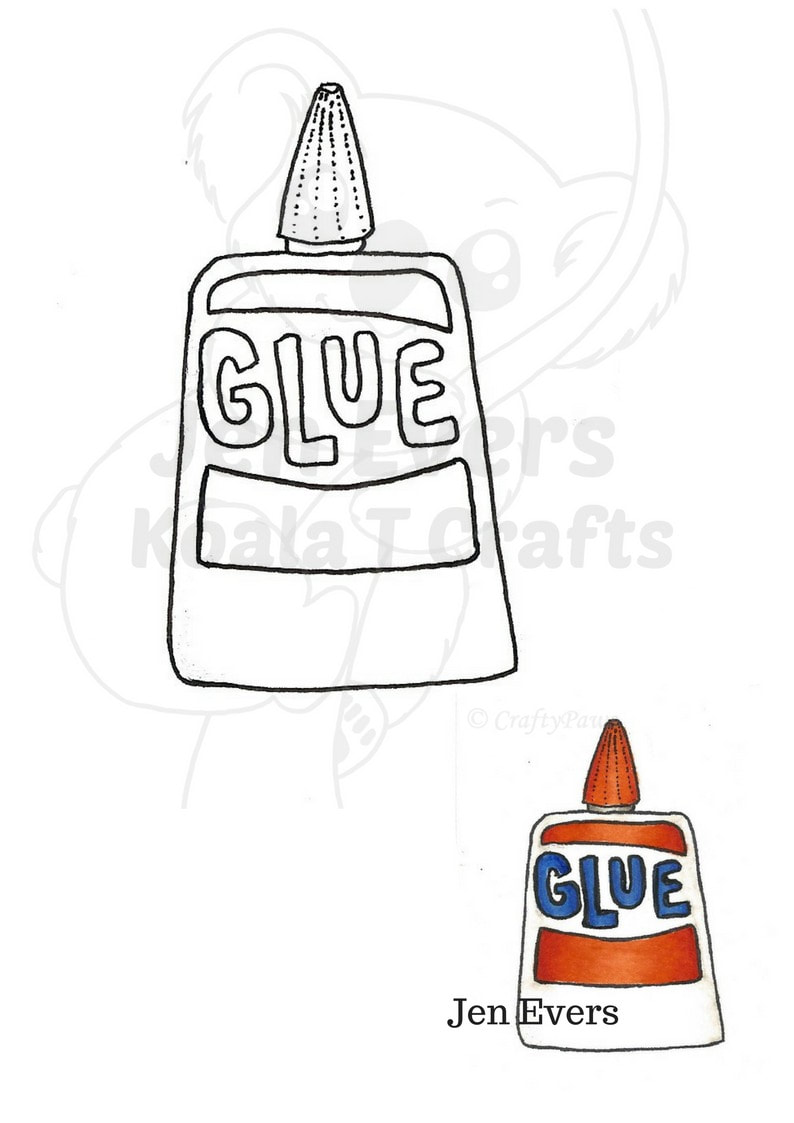 Glue Digital Stamp