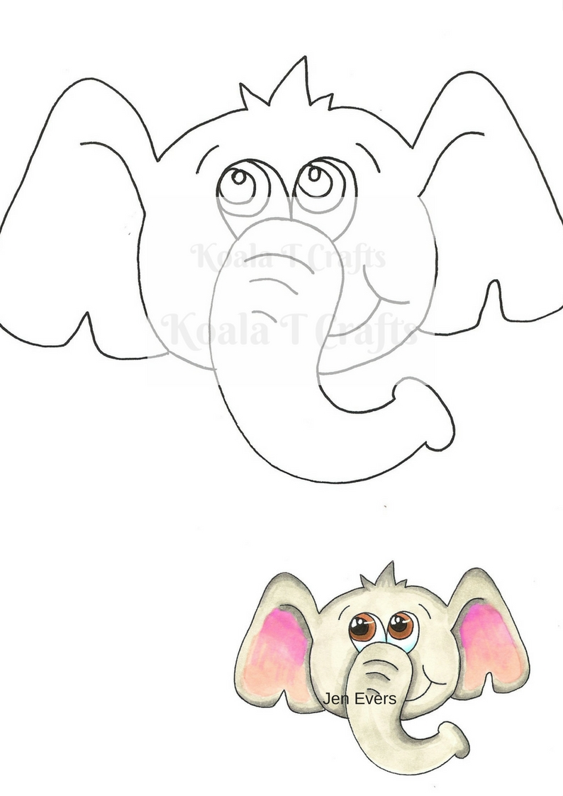 OLLIE ELEPHANT DIGI  INSTANT DOWNLOAD