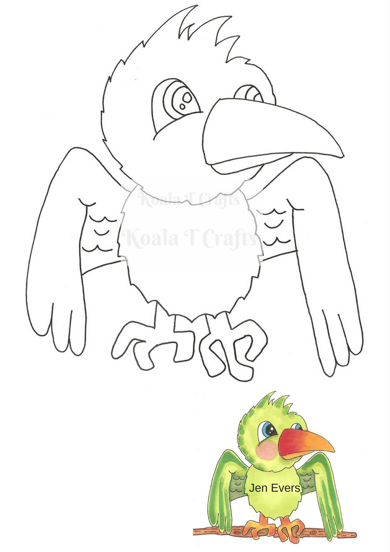 PENELOPE PARROT DIGI  INSTANT DOWNLOAD