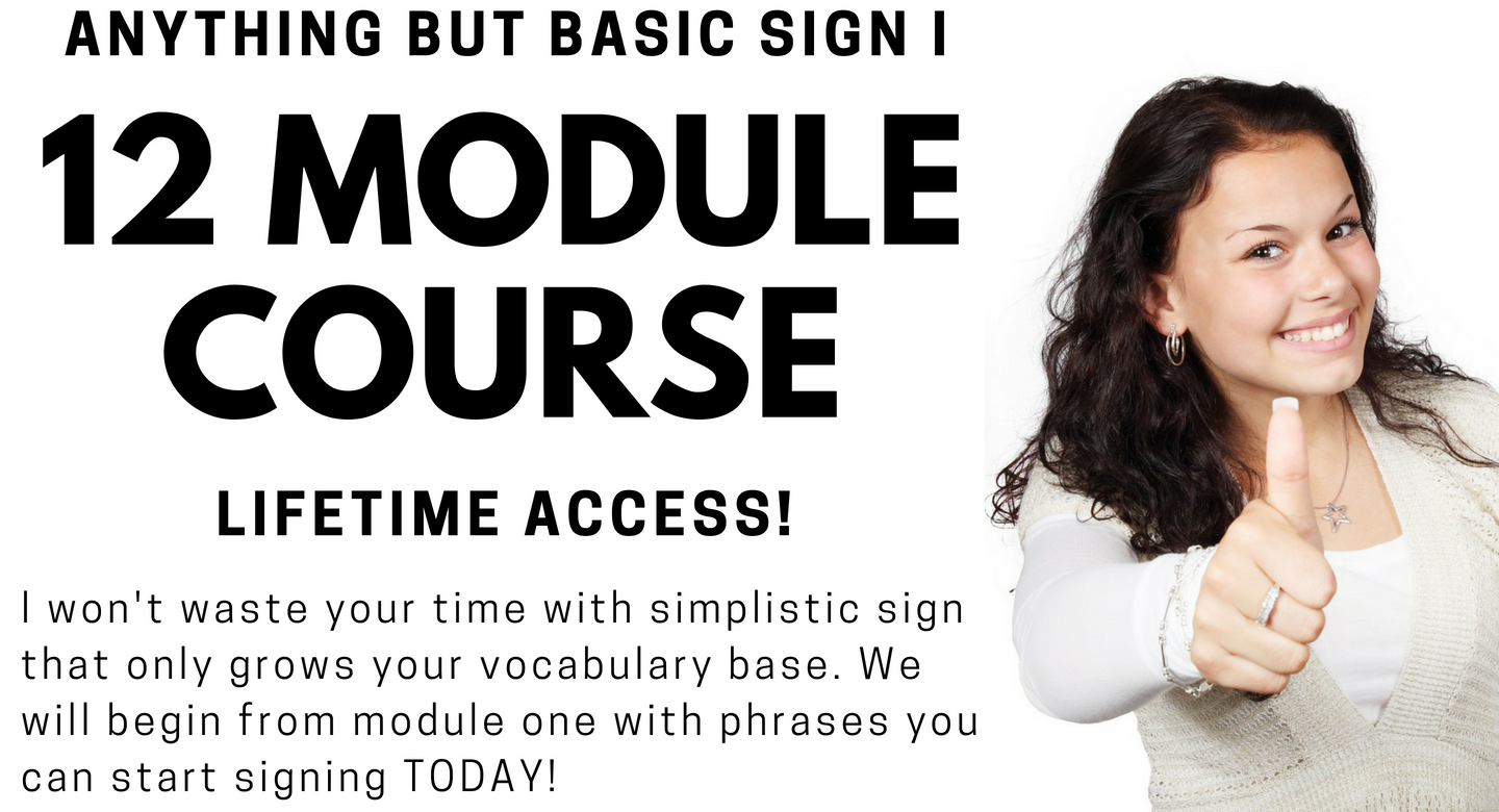 Way to Sign! Anything but Basic Sign I