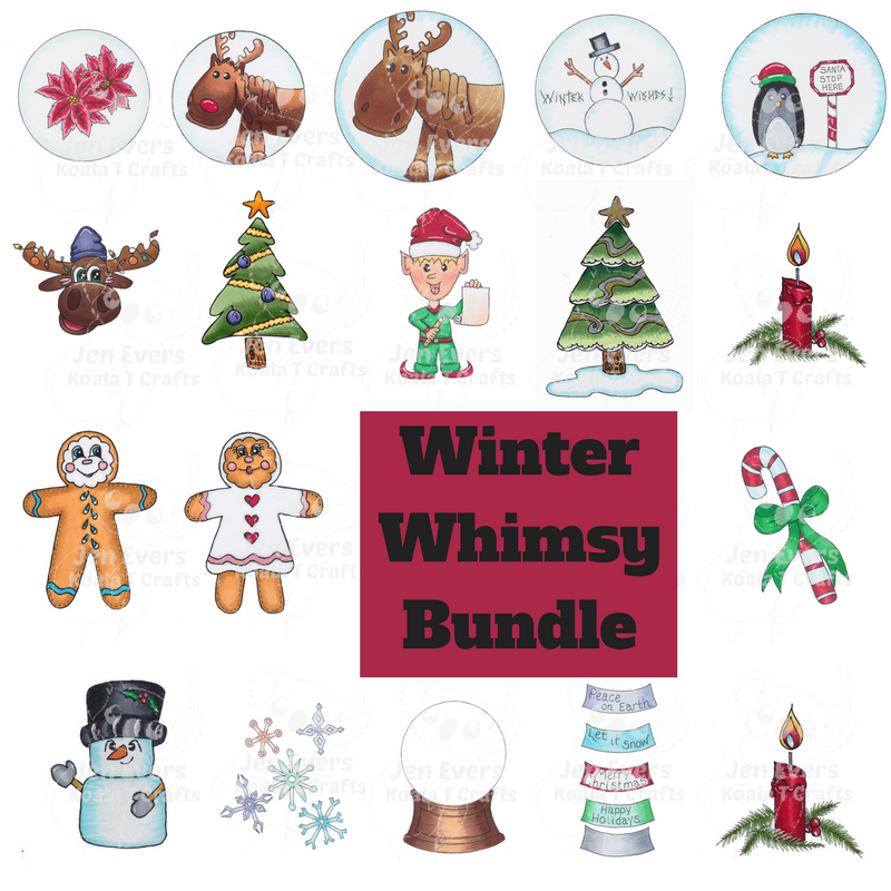 Winter Whimsy Bundle  (black & white)