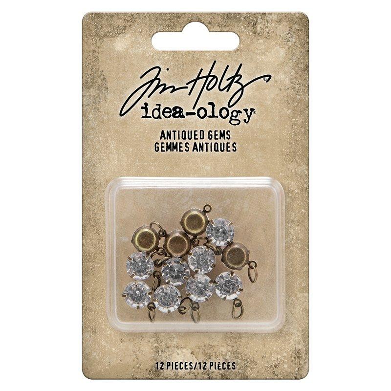 Idea-Ology Metal Adornments 12/Pkg-Antiqued Gems