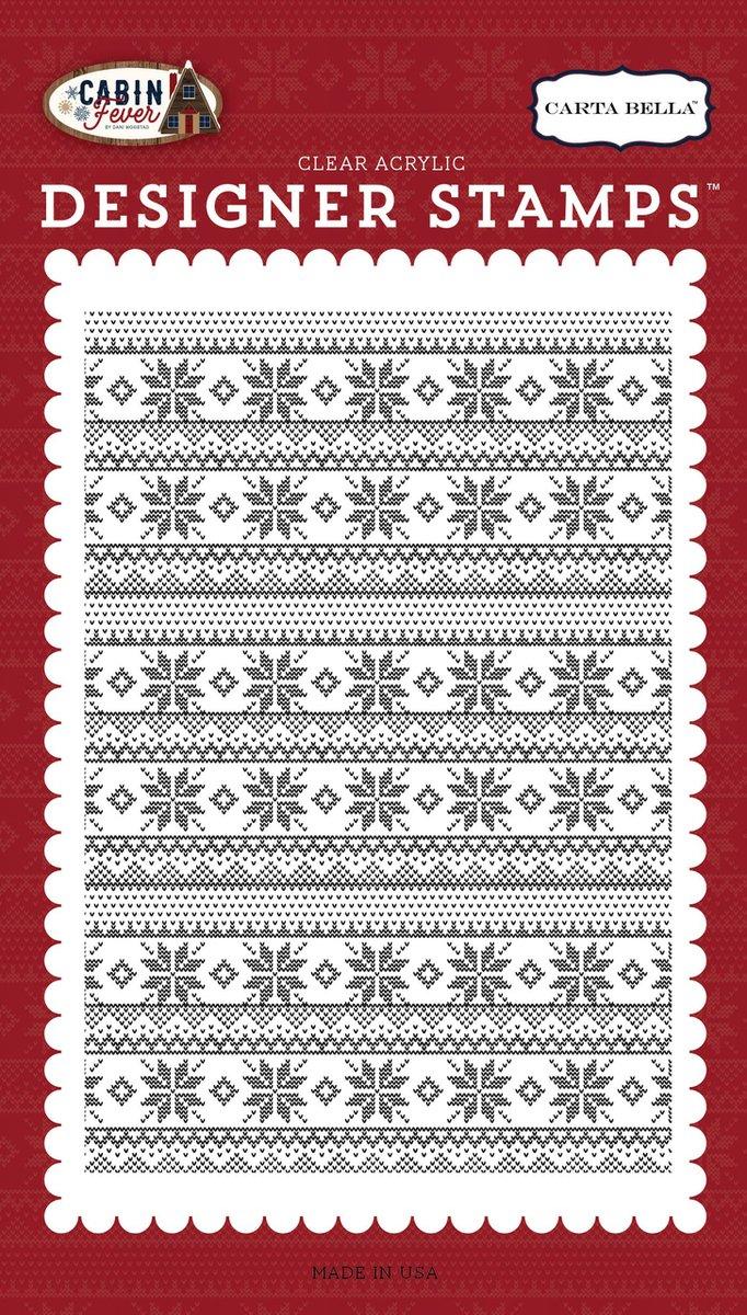 Carta Bella Artic Sweater A2 Background Stamp
