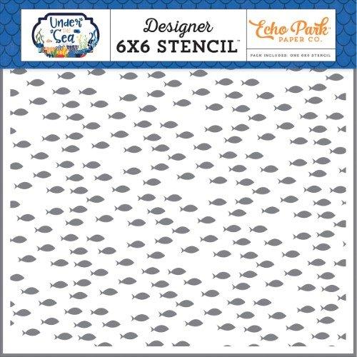 Echo Park Baby Fish 6x 6 Stencil